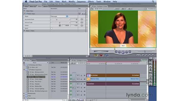 Removing garbage in frame: Final Cut Studio 2: Chroma Keying