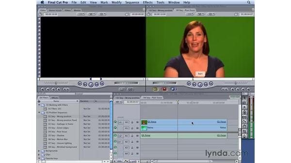 Fixing poorly focused shots: Final Cut Studio 2: Chroma Keying