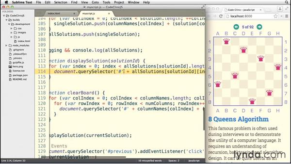 Programming the user interface: Code Clinic: JavaScript