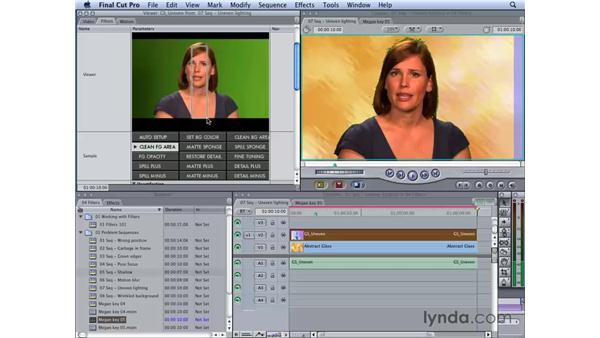 Working with uneven lighting: Final Cut Studio 2: Chroma Keying