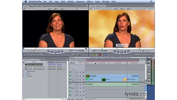 Working with gamma settings : Final Cut Studio 2: Chroma Keying