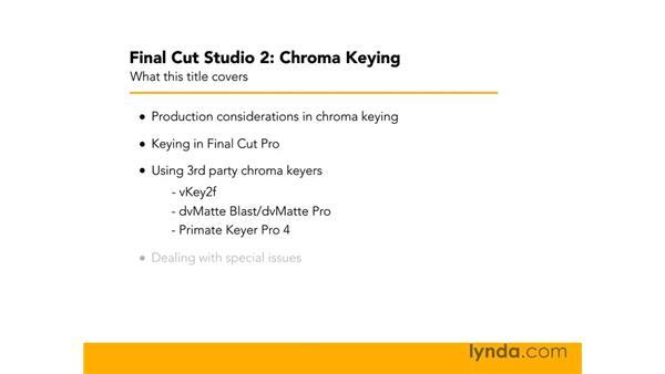 Goodbye: Final Cut Studio 2: Chroma Keying