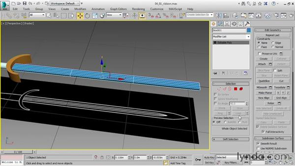 Using the Ribbon with editable polys: 3ds Max 2016 Essential Training