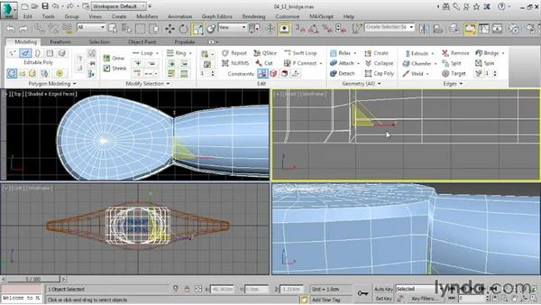 Joining elements with Bridge: 3ds Max 2016 Essential Training
