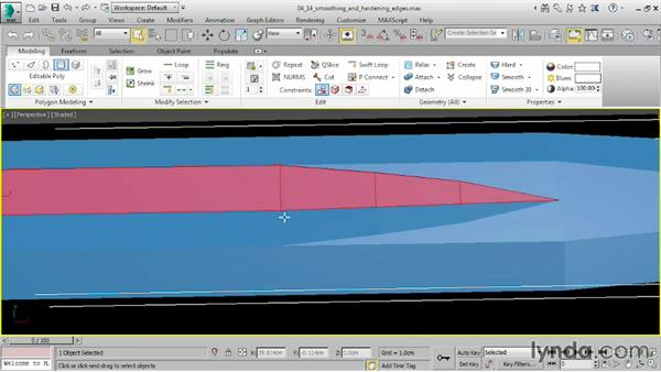 Smoothing and hardening edges: 3ds Max 2016 Essential Training
