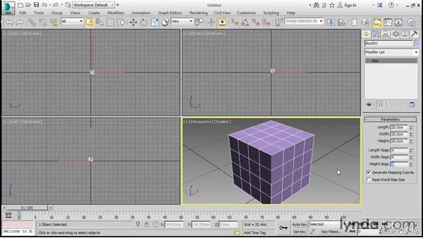 Creating an editable poly object: 3ds Max 2016 Essential Training