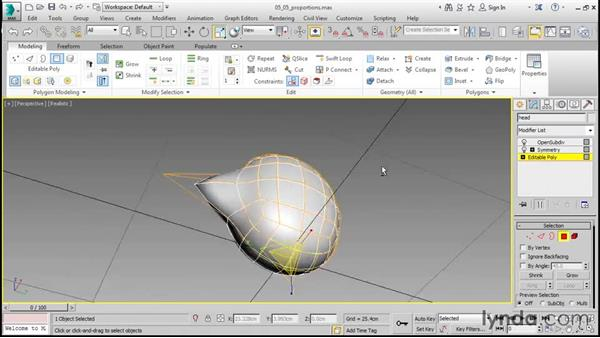 Roughing out the proportions: 3ds Max 2016 Essential Training