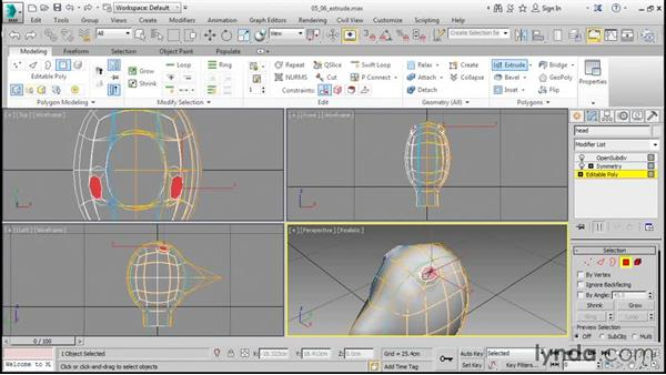 Adding features with Extrude: 3ds Max 2016 Essential Training