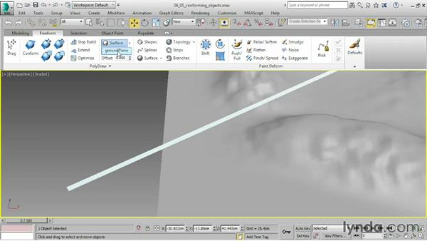 Conforming one object to another: 3ds Max 2016 Essential Training