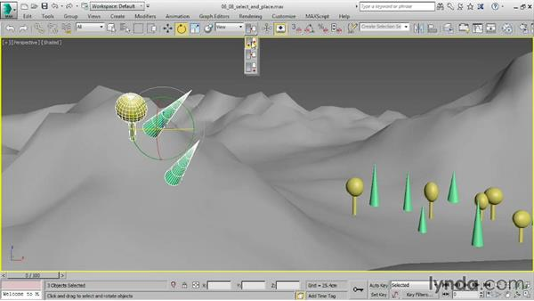 Positioning objects with Select and Place: 3ds Max 2016 Essential Training