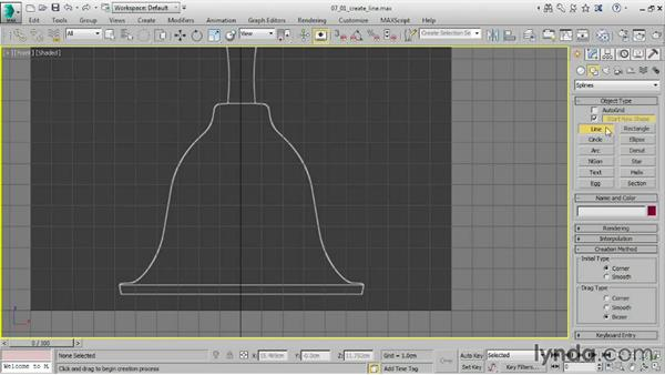 Creating a line: 3ds Max 2016 Essential Training