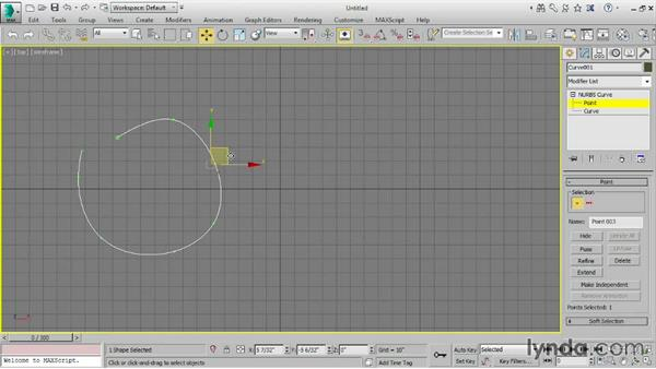 Converting objects to NURBS: 3ds Max 2016 Essential Training