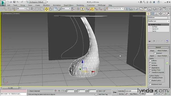 Rebuilding curves: 3ds Max 2016 Essential Training
