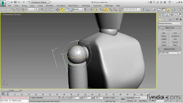 Linking objects: 3ds Max 2016 Essential Training