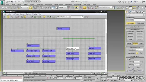 Using the Schematic view: 3ds Max 2016 Essential Training
