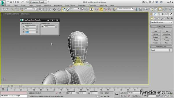 Avoiding problems with scale: 3ds Max 2016 Essential Training