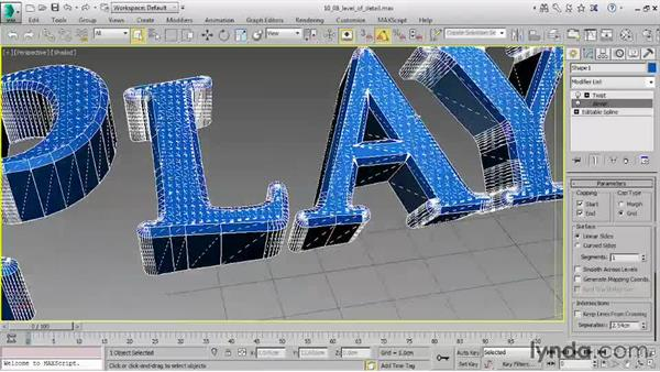 Controlling level of detail: 3ds Max 2016 Essential Training