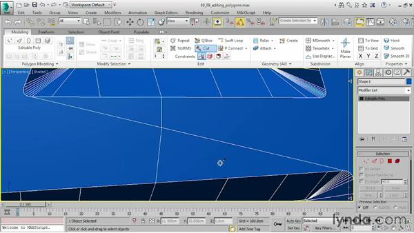 Editing polygons: 3ds Max 2016 Essential Training