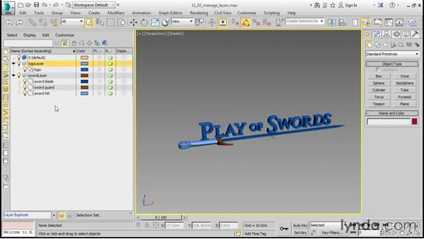 Managing display layers: 3ds Max 2016 Essential Training