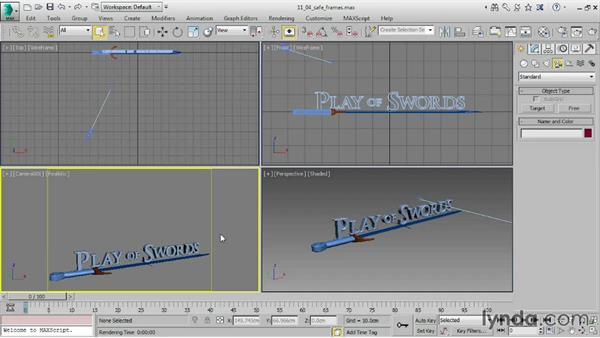 Choosing aspect ratio in Render Setup: 3ds Max 2016 Essential Training