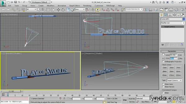 Adjusting Field of View: 3ds Max 2016 Essential Training
