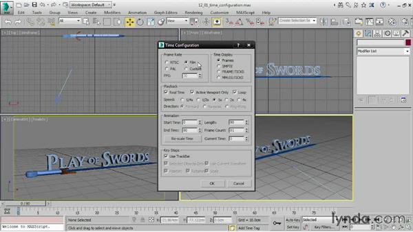 Setting up Time Configuration: 3ds Max 2016 Essential Training