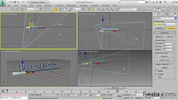 Editing position keys with trajectories: 3ds Max 2016 Essential Training