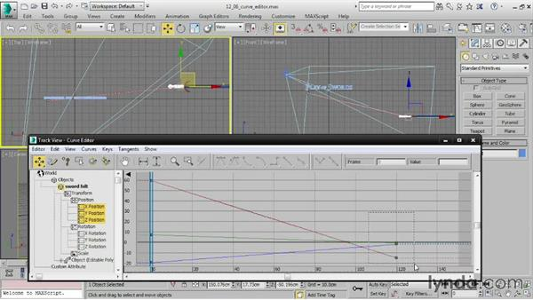 Editing function curves in the Curve Editor: 3ds Max 2016 Essential Training