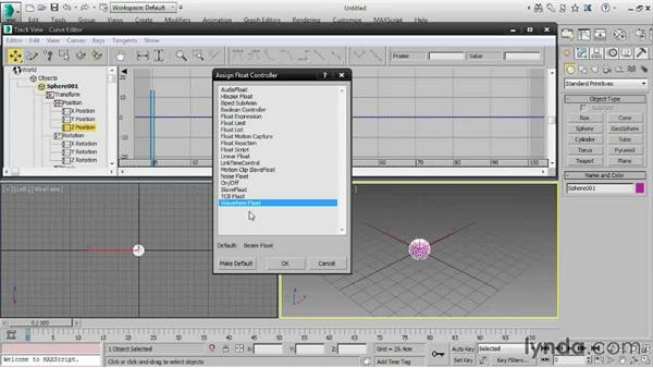 Understanding controllers: 3ds Max 2016 Essential Training
