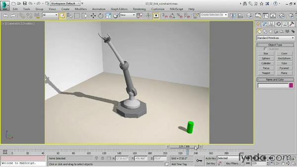 Assigning a Link constraint: 3ds Max 2016 Essential Training