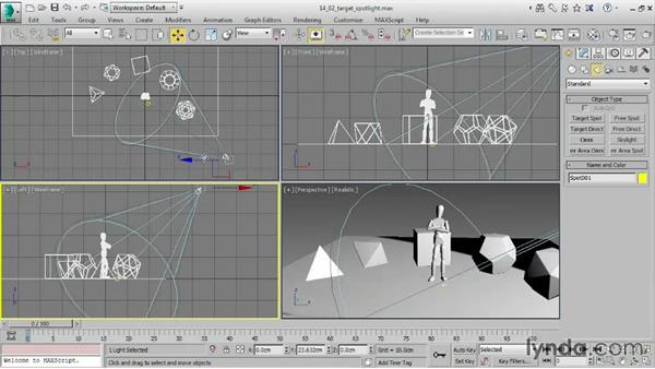 Adjusting intensity and color: 3ds Max 2016 Essential Training