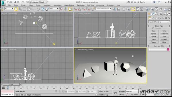 Creating a target spotlight: 3ds Max 2016 Essential Training