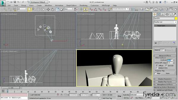 Choosing a shadow type: 3ds Max 2016 Essential Training