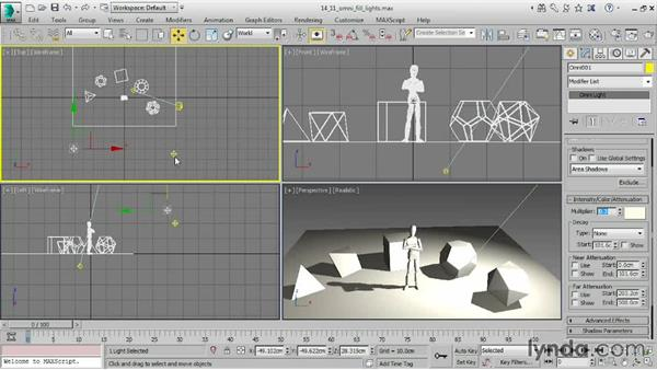 Using the Light Explorer: 3ds Max 2016 Essential Training
