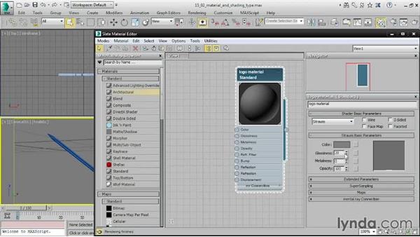 Choosing material and shading types: 3ds Max 2016 Essential Training