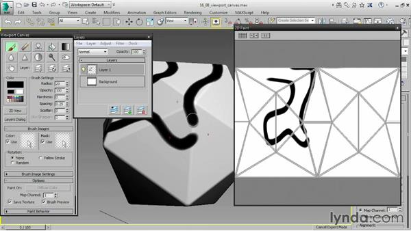 Painting objects with Viewport Canvas: 3ds Max 2016 Essential Training