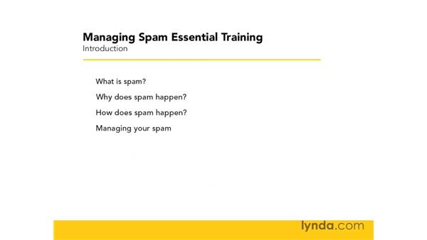 What this course covers: Managing Spam Essential Training