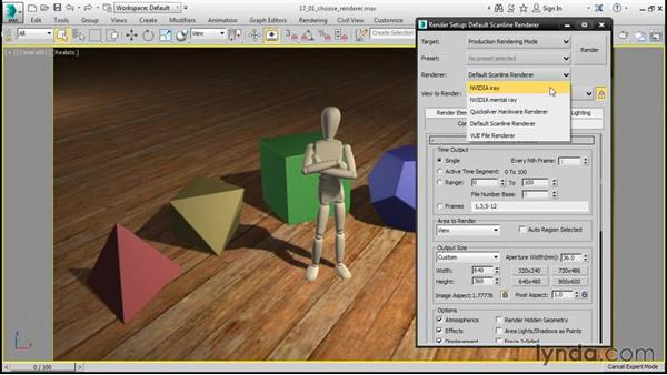 Choosing a renderer: 3ds Max 2016 Essential Training