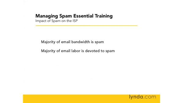 The impact of spam on ISPs: Managing Spam Essential Training