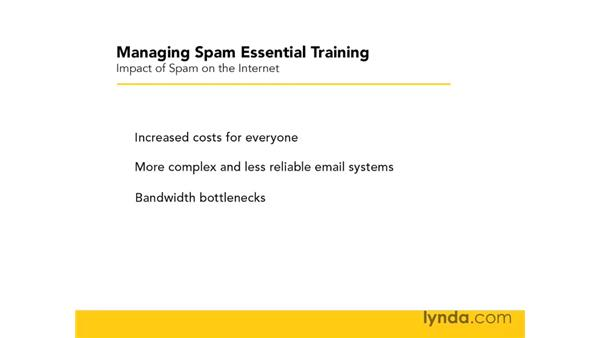 The impact of spam on the internet: Managing Spam Essential Training