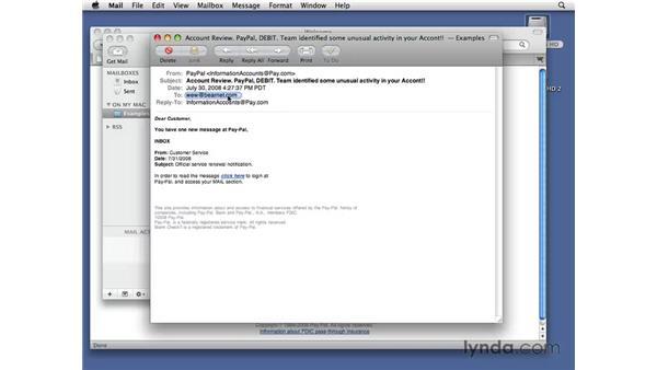 Defending against phishing attacks: Managing Spam Essential Training