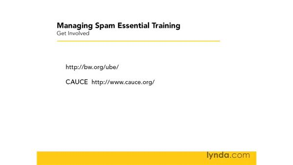 Getting involved: Managing Spam Essential Training