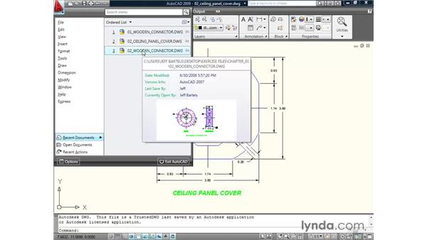Exploring the menu browser: AutoCAD 2009 New Features