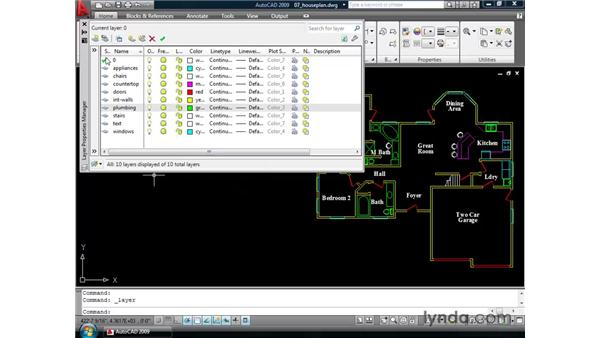 Introducing the Layer Properties palette: AutoCAD 2009 New Features