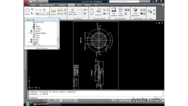 Editing and sharing action recorder macros: AutoCAD 2009 New Features