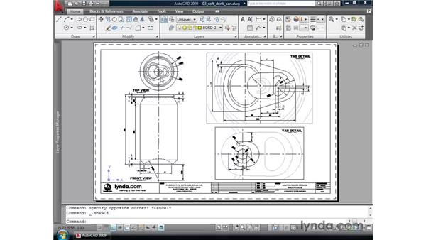 Converting layouts to models: AutoCAD 2009 New Features
