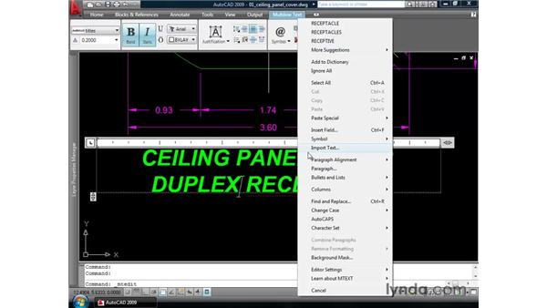 Introducing automatic spell-checking: AutoCAD 2009 New Features