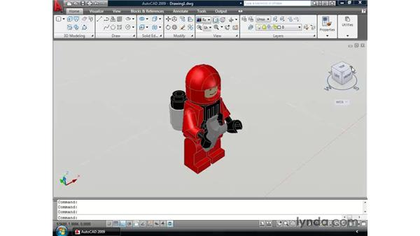 Manipulating 3D views with the ViewCube: AutoCAD 2009 New Features