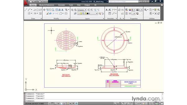 Using the menu browser: AutoCAD 2009 Essential Training