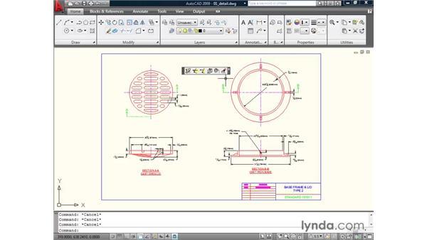 Activating the toolbars: AutoCAD 2009 Essential Training